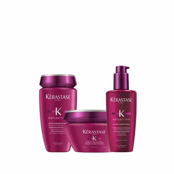 Bain Chromatique 250ml + Masque Chromatique Fins 200ml + Fluide Chroma Riche 125ml