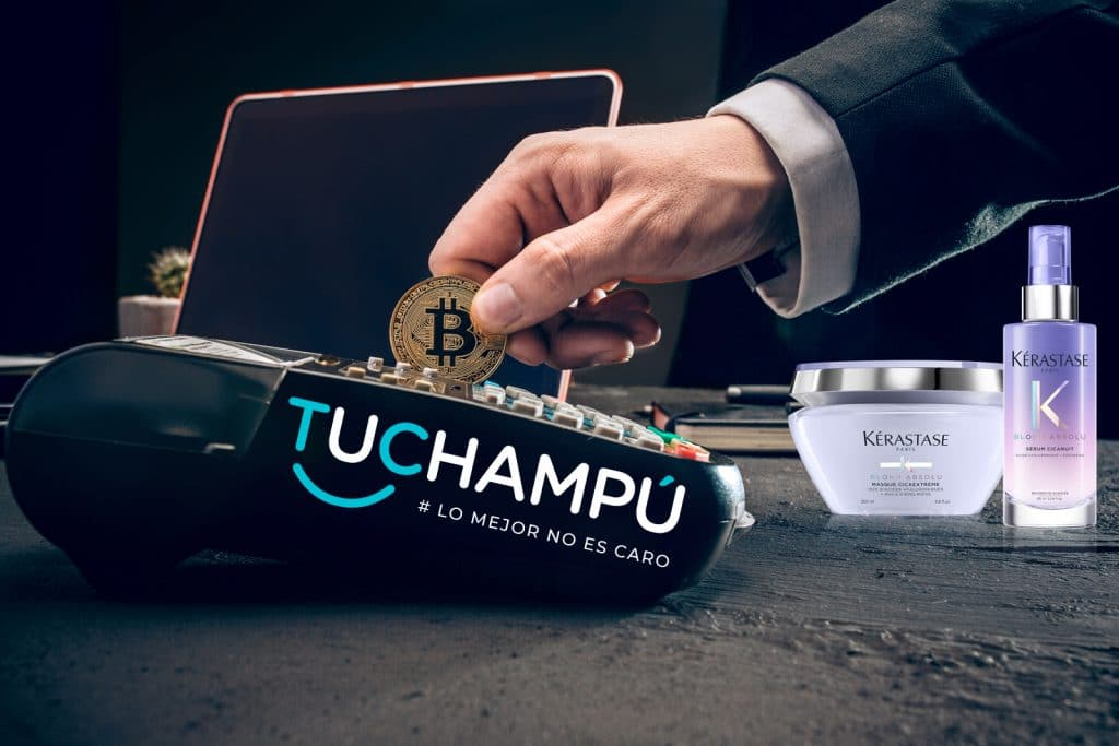 Tuchampú acepta Bitcoin como forma de pago.